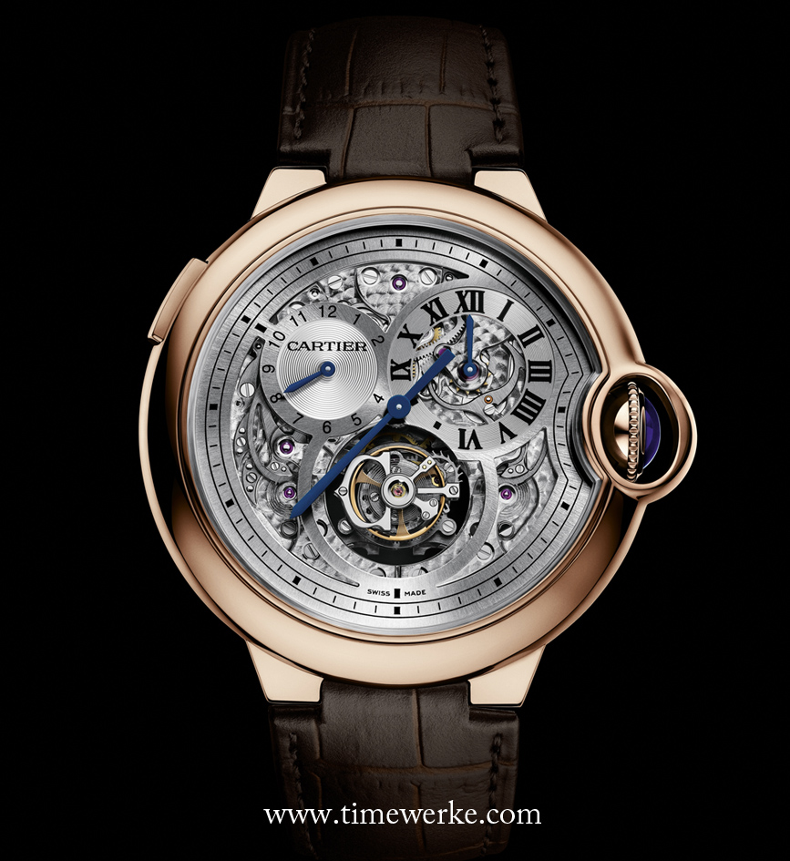 Cartier is a very much favoured brand in China bought as a gift for friends and business contacts, according to the Hurun Report. Shown above: Ballon Bleu de Cartier Tourbillon with double jumping second time zone watch