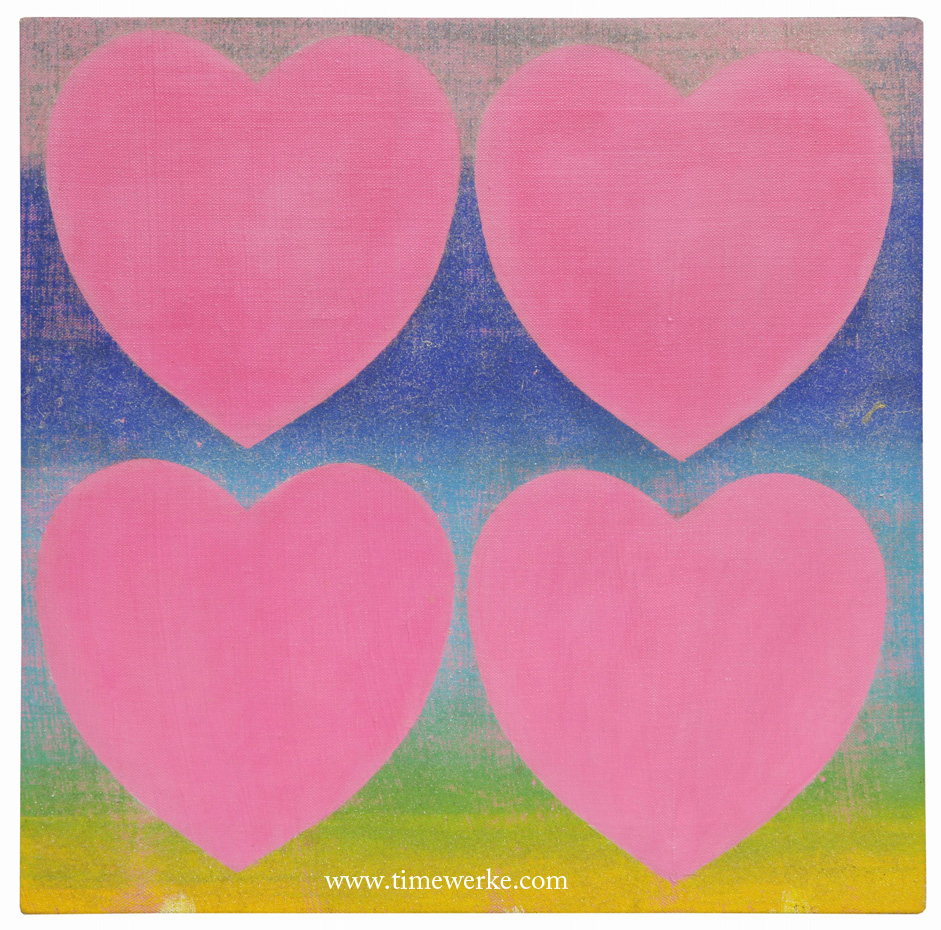 """Hearts Pink"" by Andy Warhol. Sold for S$354,000 at Est-Ouest's January 2013 auction in Singapore. Photo courtesy of Est-Ouest"