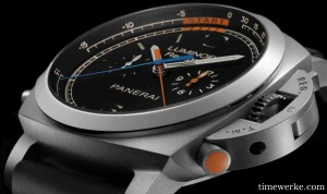 Panerai Luminor 1950 Regatta 3 Days Chrono Flyback Titanio, 2013 collection. Photo: © Panerai