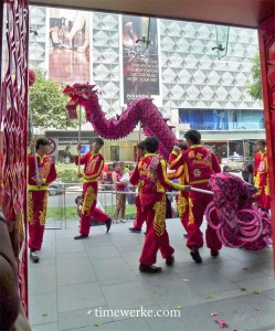 "22 February 2013, 12.18pm. The dragon dance. The fiery red dragon represents ""excitement"". Photo: © TANG Portfolio"
