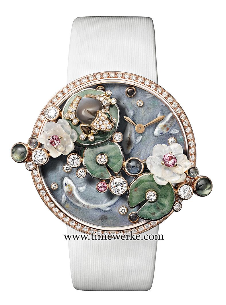 Les Indomptables de Cartier Frog watch. Part of Les Heures Fabuleuses de Cartier's amazingly fresh and interesting jewellery watch collection. Photo: © Cartier