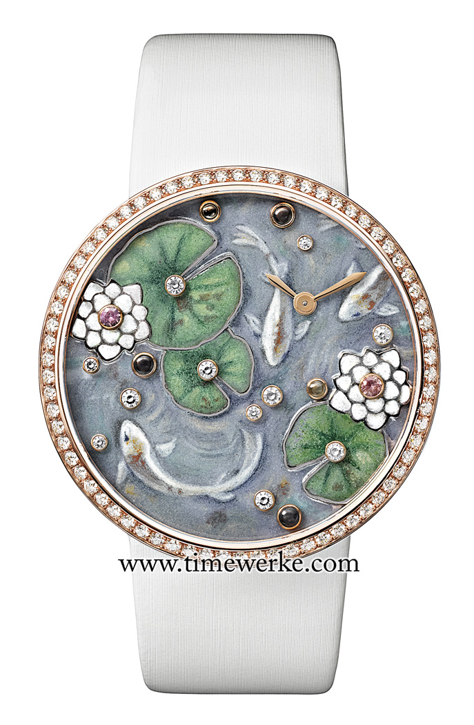 With the frog off, the Indomptables de Cartier Frog watch appears as a very different wristwatch. Photo: © Cartier