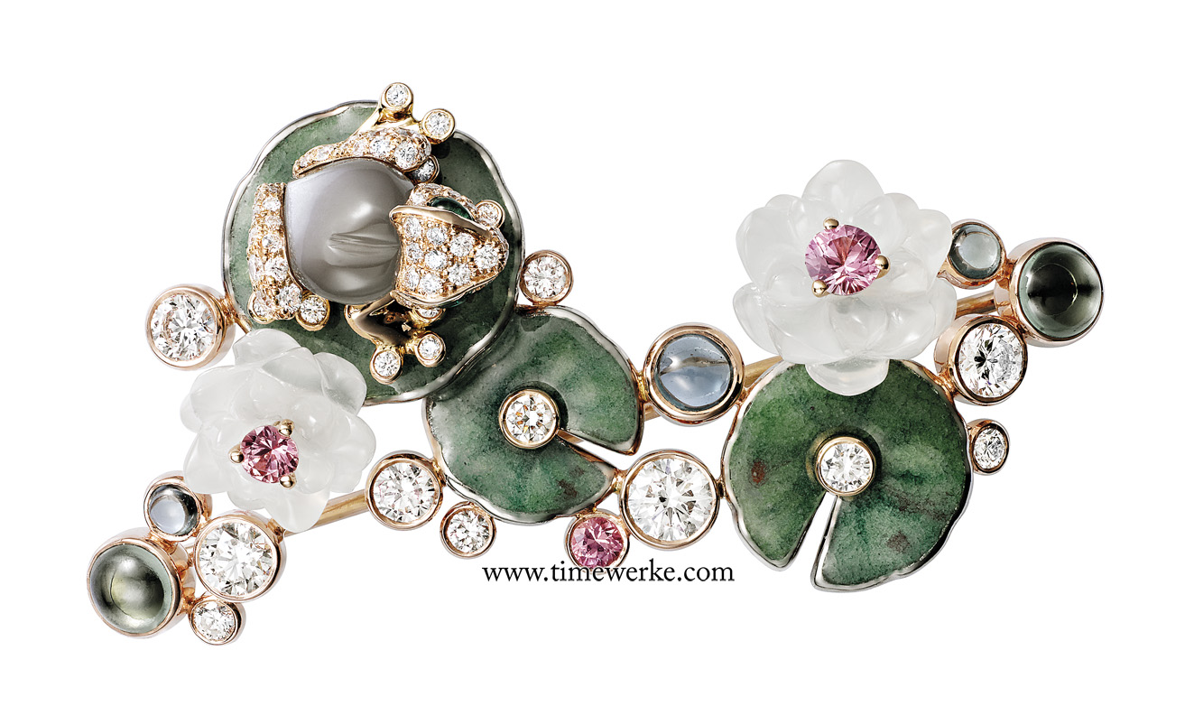 The brooch of the Indomptables de Cartier Frog is definitely not a watch but it can be part of one. Photo: © Cartier