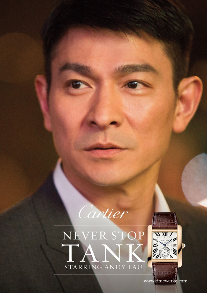 The 90-second short film by Cartier stars Hong Kong movie star Andy Lau as himself. In the film, Lau is wearing the Cartier Tank MC. Photo: © Cartier