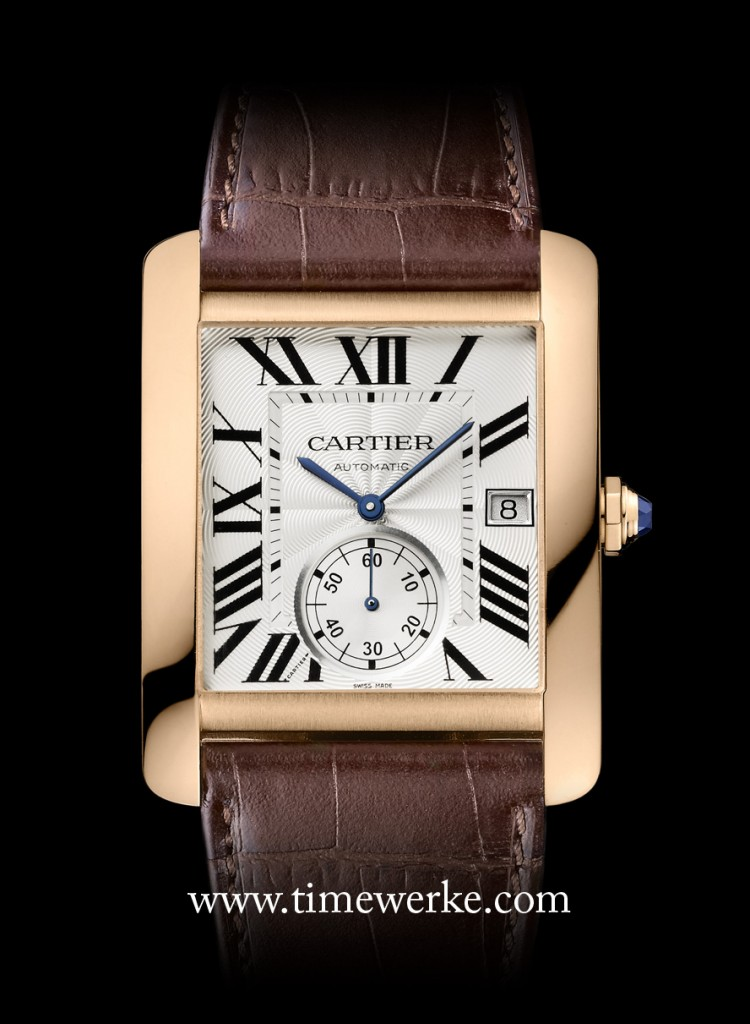 The Cartier Tank MC watch in 18K pink gold. This is the same model worn by Andy Lau in the short film. It is powered by the self-winding Calibre 1904 MC, the first Manufacture movement made by Cartier. Photo: © Cartier