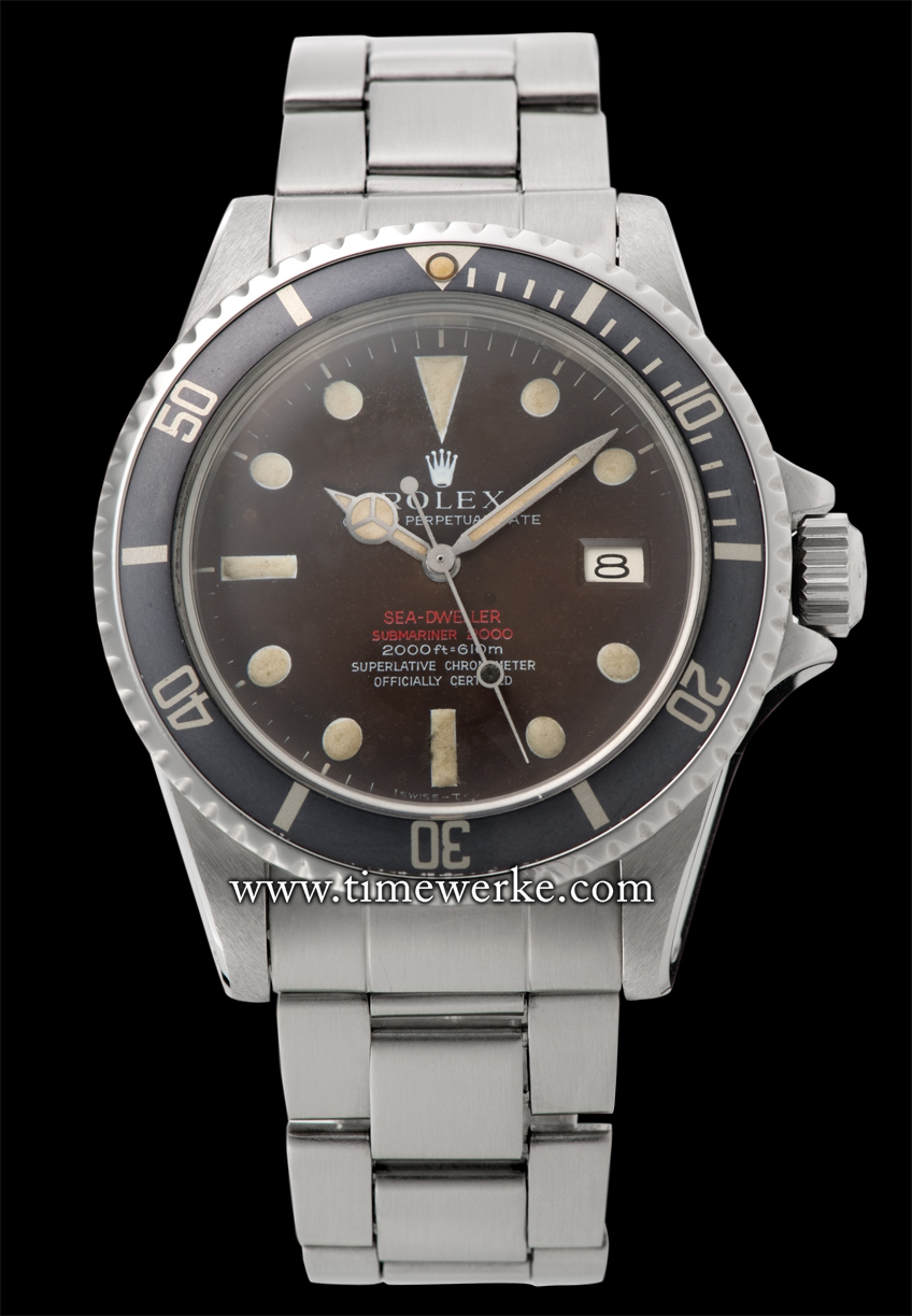 This Rolex Oyster Perpetual Sea-Dweller ref. 1665 Mark II with the tropical dial is being offered for sale by Swiss Auctions on 28 November 2013 at the Ritz-Carlton Hotel in Kuala Lumpur, Malaysia. The asking price for this piece, Lot 523, is between US$32,000 and US$38,400 or between MYR108,800 and MYR130,600 (Malaysian Ringgit) [Source: Swiss Auctions catalogue]. Photo: © Swiss Auctions