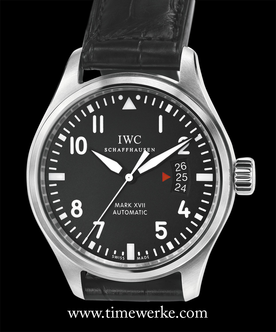 The IWC Pilot's Watch Mark XVII in stainless steel was launched in 2012. Retailed at around: 5,000 Swiss francs / 4,000 euros / US$5,500 / S$6,800 / 17,000 Malaysian Ringgit. Photo: © IWC
