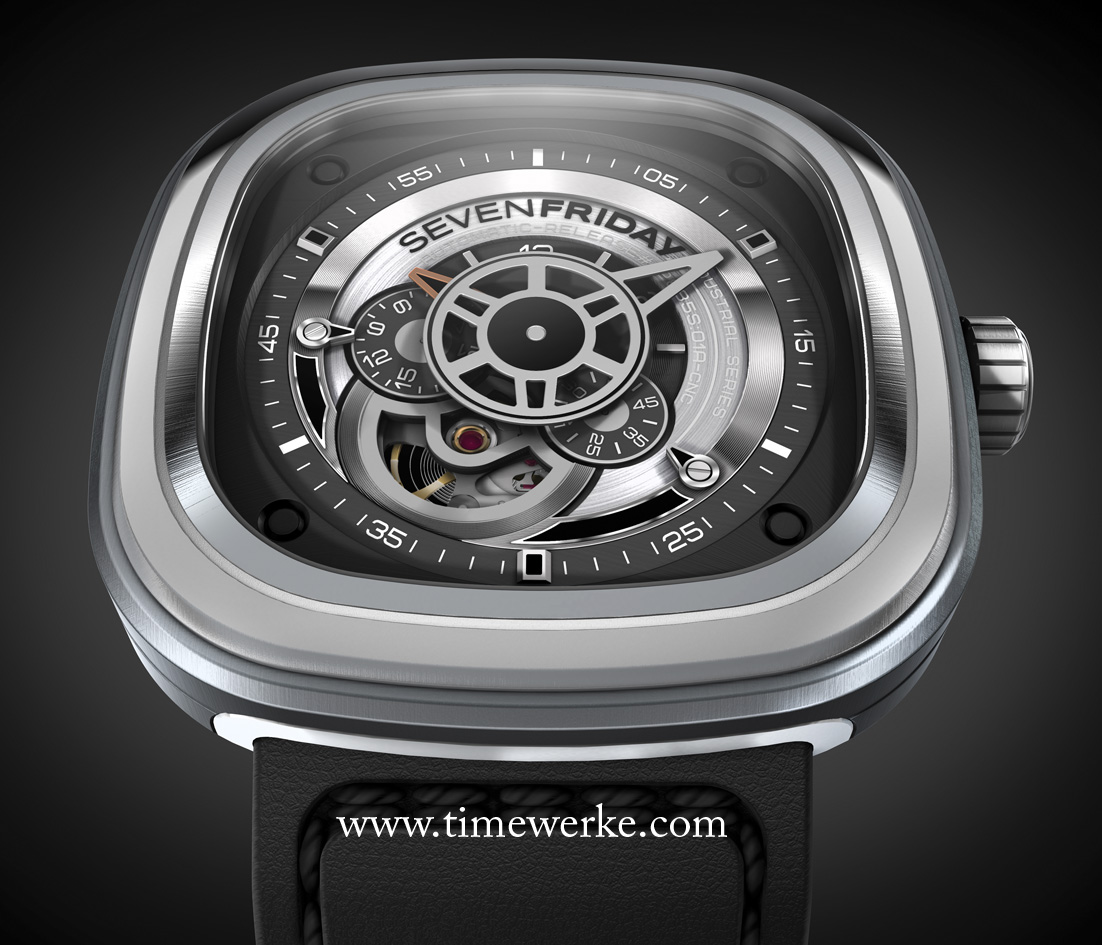 """A relatively """"new kid"""" on the block with """"complicated"""" looks is SevenFriday with the P1 model shown above. SevenFriday was founded in 2012 in Zurich, Switzerland. Photo: © SevenFriday"""