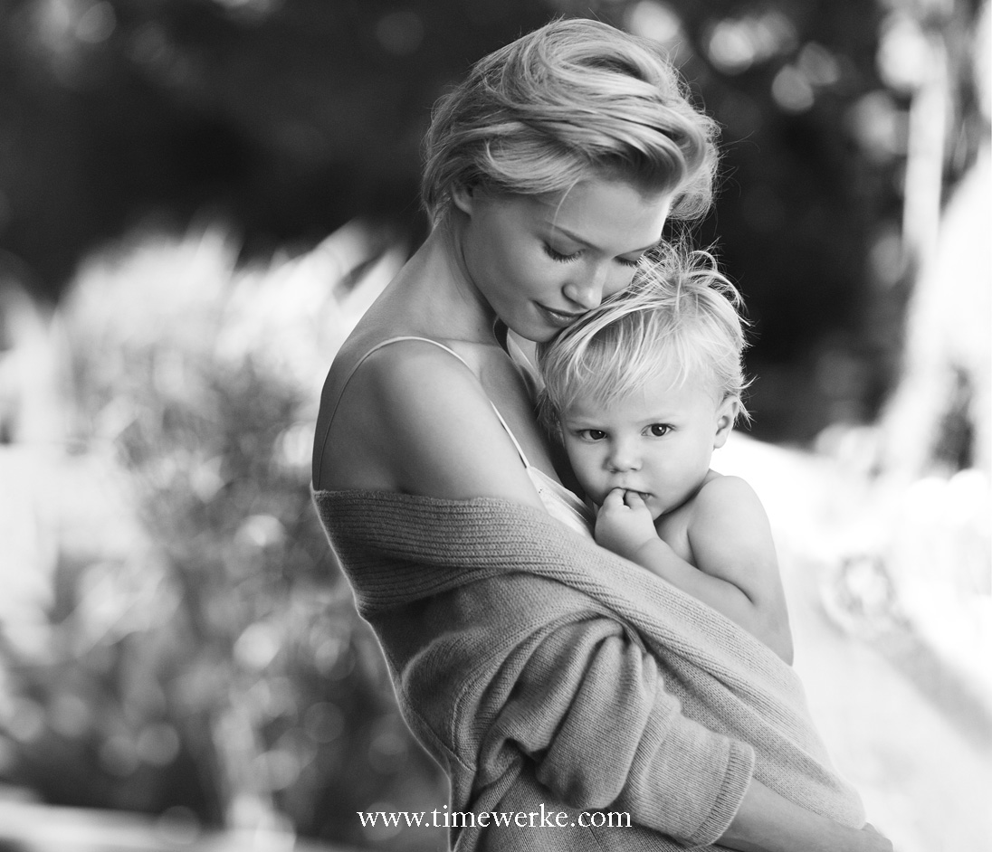 """""""A Birth"""" – photography by Peter Lindbergh for Baume & Mercier's """"Celebration Campaign"""" in line with the brand's tagline: """"Life is about moments"""". Photo: © Baume & Mercier"""
