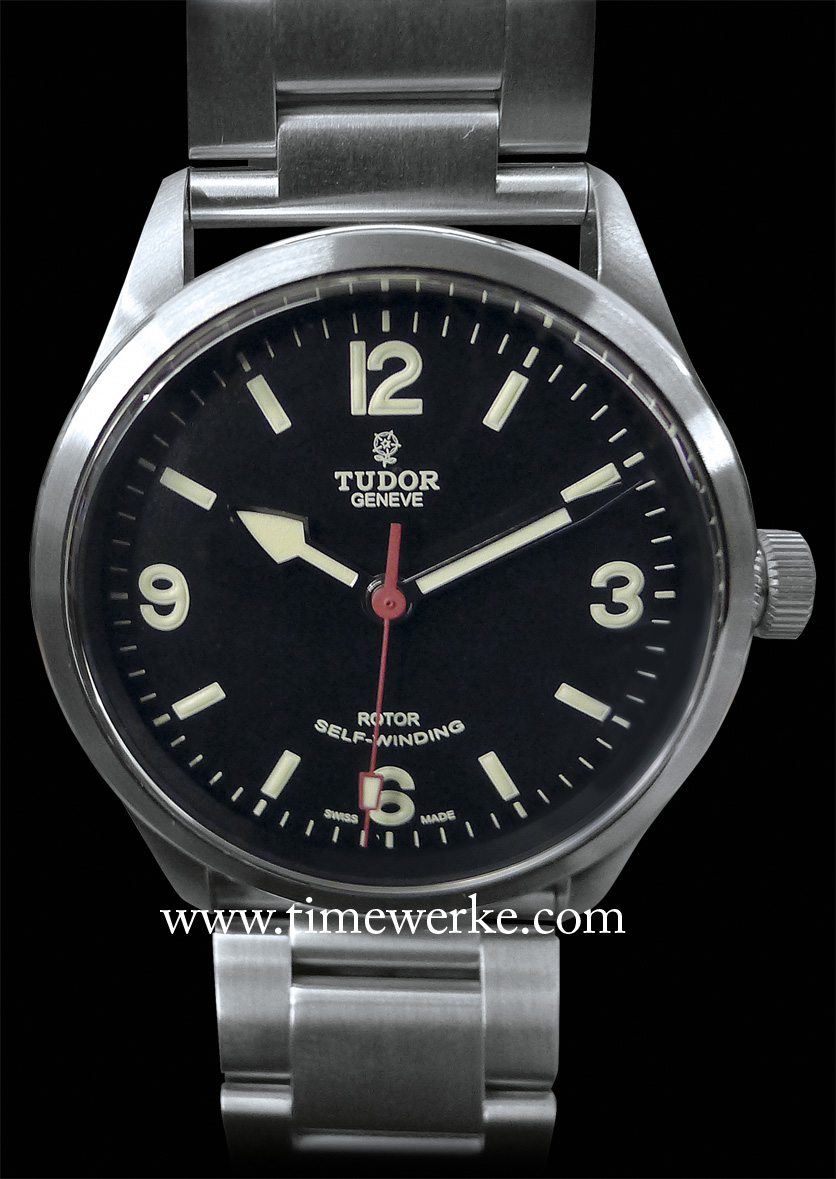 Tudor's 2014 Heritage Ranger with  a steel bracelet. Powered by the Calibre 2824, the 41mm diameter steel case is satin-finished and water-resistant to 150m (500ft). Photo: © TANG Portfolio. 2014 BaselWorld