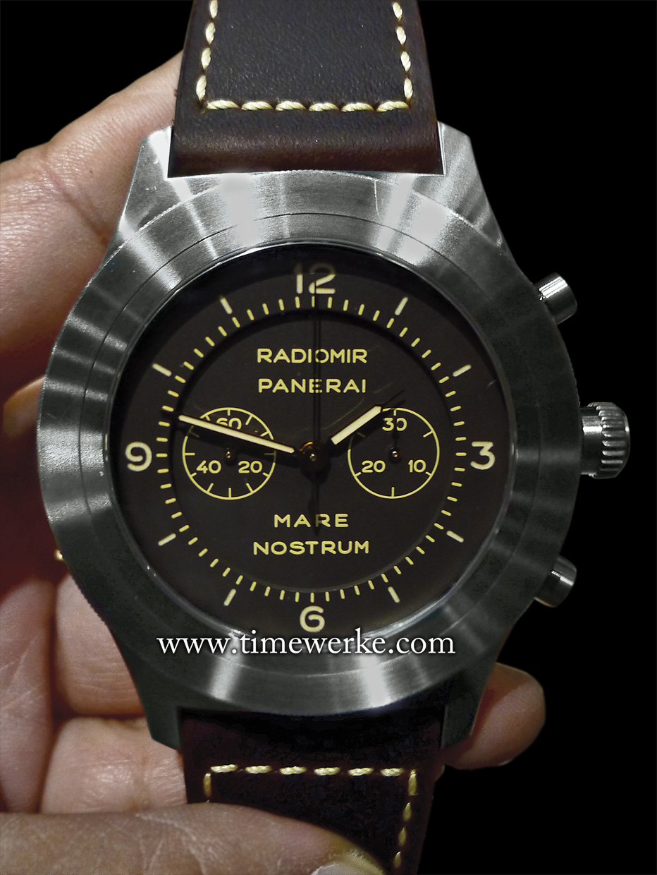 reserve special panerai steel edition power op in chronometer watches dlc black of watch