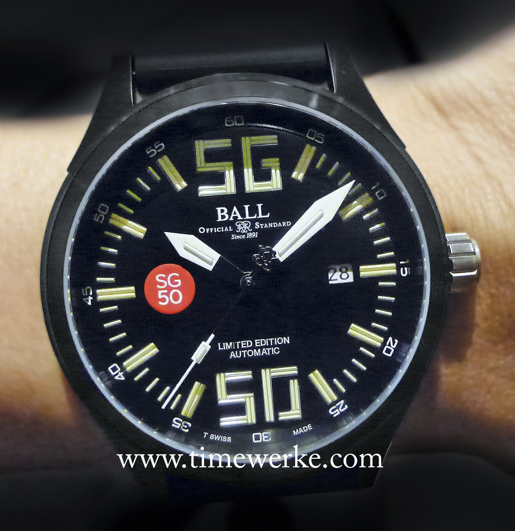There are quite a few good reasons to own the Ball Watch Fireman Night Train SG50. Among the reason: This piece has the most micro gas tubes ever on any Ball Watch. Photo: © TANG Portfolio. Elfa / Timmy