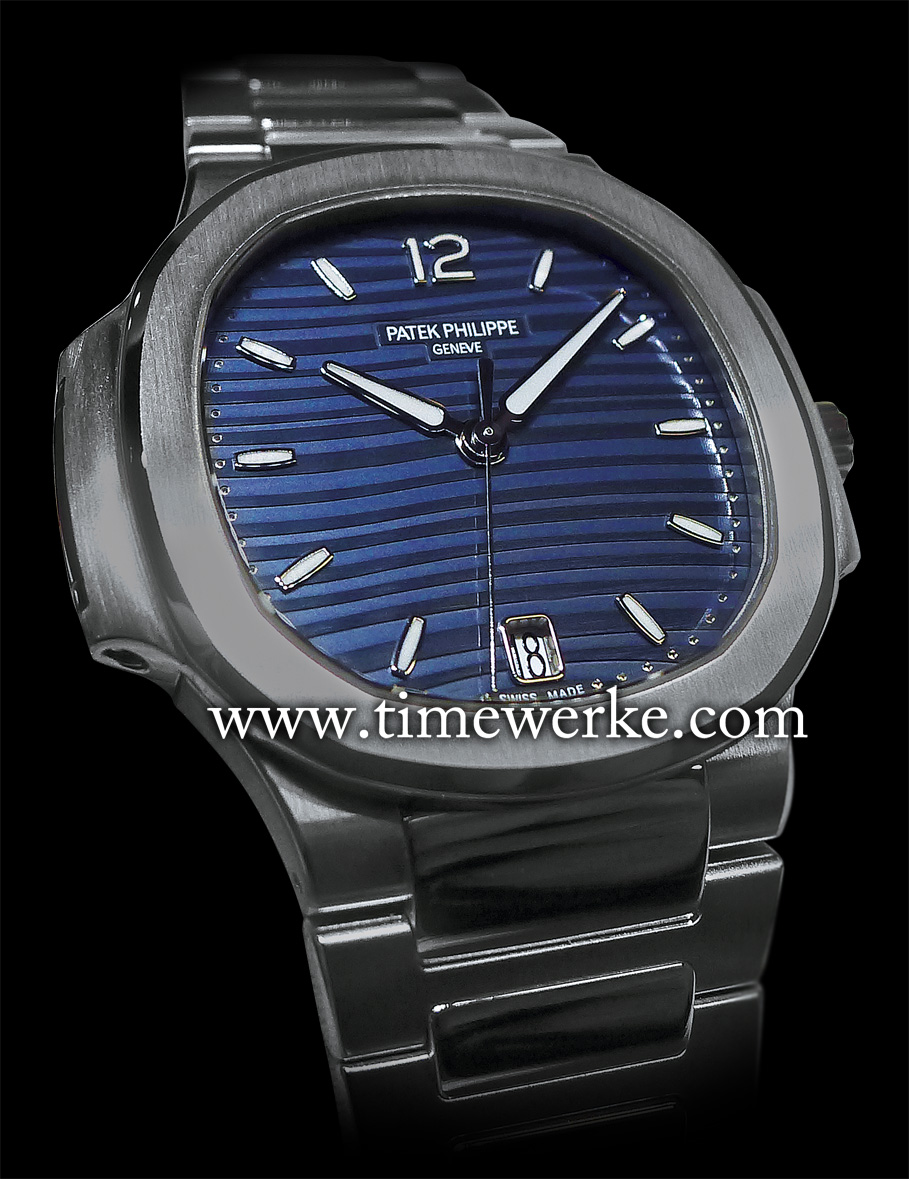 Patek Philippe Ref. 7118/1 Ladies Automatic Nautilus. Introduced in 2015, it is powered by the Calibre 324 SC automatic movement which is housed in a 35.2mm case in steel that is water-resistant to 60m. Photo: © TANG Portfolio. Elfa / Timmy. 2015 BaselWorld