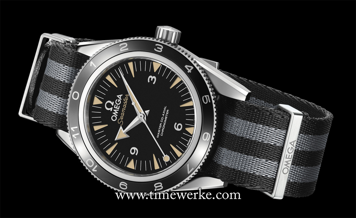 "The Omega Seamaster 300 ""Spectre"" Limited Edition (Reference: 233.32.41.21.01.001 comes with the black and grey NATO strap with five stripes. Worn by Daniel Craig who reprised his role as James Bond in Spectre (his fourth time playing the British secret service agent), this Seamaster 300 ""Spectre"", limited to 7,007 pieces, is also available for sale. This is the first time a model used in the James Bond movie is offered to collectors. Previously, only commemorative editions were launched to celebrate Omega's partnership with the James Bond movie franchise. Priced at SGD9,800 inclusive of tax. Photo: © Omega"