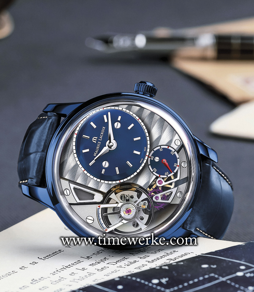 "The Maurice Lacroix Masterpiece Gravity ""Only Watch 2015"" was sold for CHF25,000 at the ""Only Watch"" charity auction co-hosted by Association Monégasque contreles Myopathies, Monaco Yacht Show and Phillips in association with Bacs & Russo. The final auction price was double that of its lowest estimated value of CHF12,000. Photo: © Maurice Lacroix"