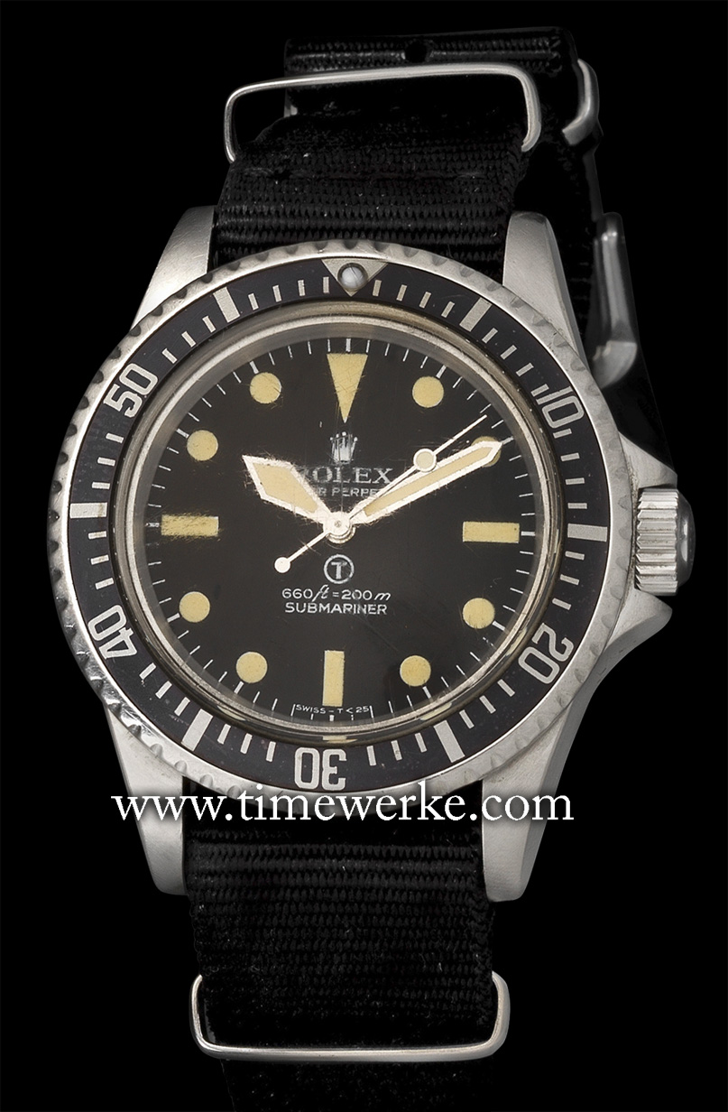 Rolex Ref. 5517/5513, made in around 1972 and issued in 1977, it is home to the Calibre 1520 automatic movement. It comes in a 39mm diameter case in stainless steel and is water-resistant to 200m. The case back is engraved:  Estimated value: Between £50,000 and £70,000 / SGD110,000 and SGD150,000. Offered for sale at Bonham's 16 December 2015 auction in London. © Bonhams