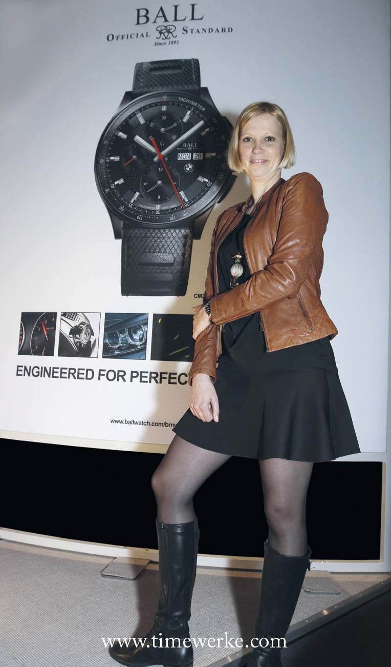Magali Métrailler designed the Ball for BMW TimeTrekker and the other timepieces in the Ball for BMW collection. Photo: © TANG Portfolio. 2014 BaselWorld.