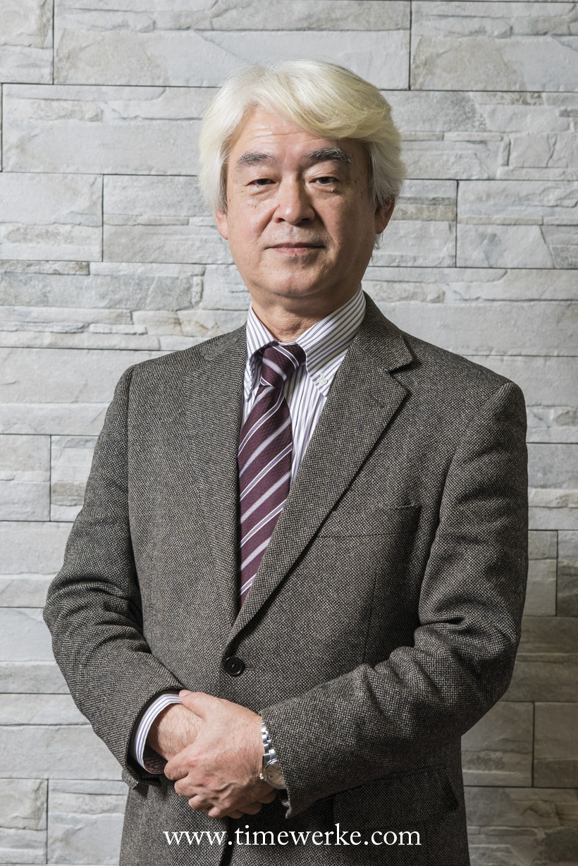 Noboru Kosugi, Designer, Seiko Instruments Inc., Design Division. In 2014, he was recognized as a Contemporary Master Craftsman by the Japanese government. In April 2016, Kosugi was awarded the Medal with Yellow Ribbon by the Japanese government. Kosugi was responsible for the overall design of the Credor Fugaku Tourbillon and was in charge of design of the Grand Seiko Hi-Beat SBGJ005 which secured the Petite Aguille prize at the 2014 Grand Prix d'Horlogerie de Genève. Photo: © Seiko