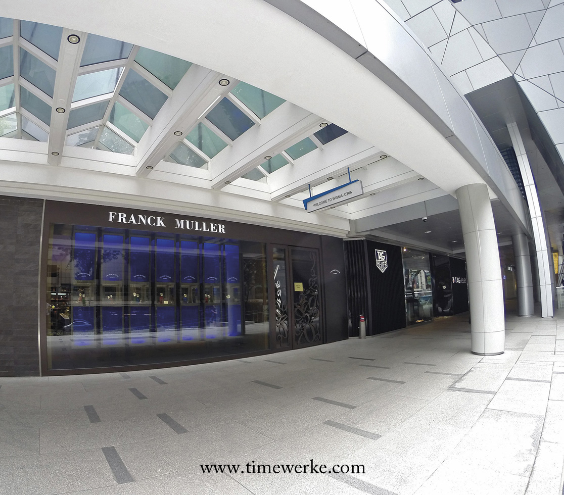 Franck Muller Boutique's latest boutique in Singapore opened in the second quarter of 2016 and is located at 435 Orchard Road, #02-01 Isetan, Wisma Atria (Singapore 238877). Photo: © TANG Portfolio / TimeWerke. Elfa / Timmy. 2016.