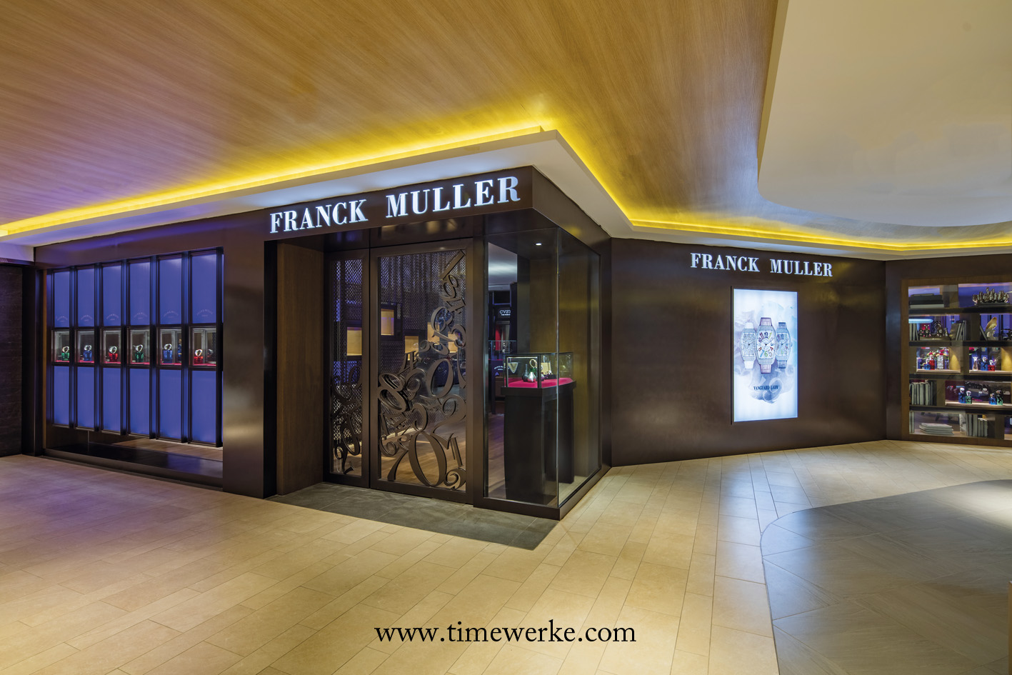 There are two entrances to the Franck Muller Boutique at Isetan, Wisma Atria. One is located within the shopping mall (above) and the other is at street level which can be accessed from outside the building. Photo: © Franck Muller.