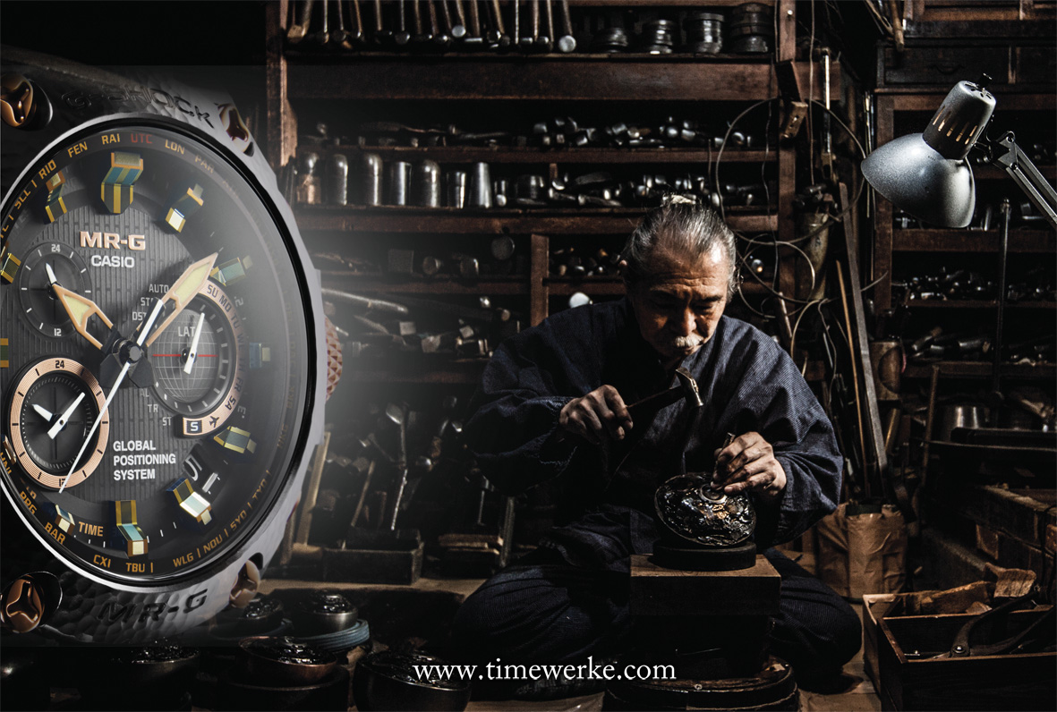 Born in 1943, Bihou Asano is the Japanese artisan who used a 1,200-year old technique to decorate the bezel and parts of the bracelet of the Casio G-Shock MRG-G1000HT with tsuiki. Photo: © Casio.