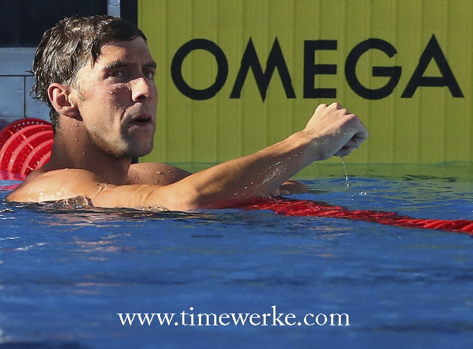 American Michael Phelps (born 30 June 1985). Phelps became an Omega brand ambassador in 2004. Photo: © Omega